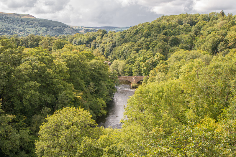 The old bridge over river Dee, Wales
