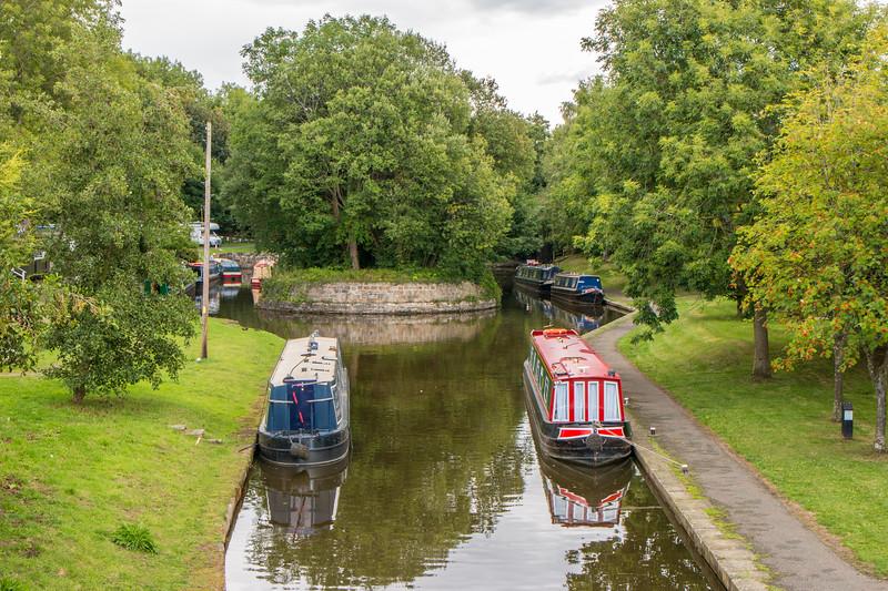 Pontcysyllte canal boats, Wales