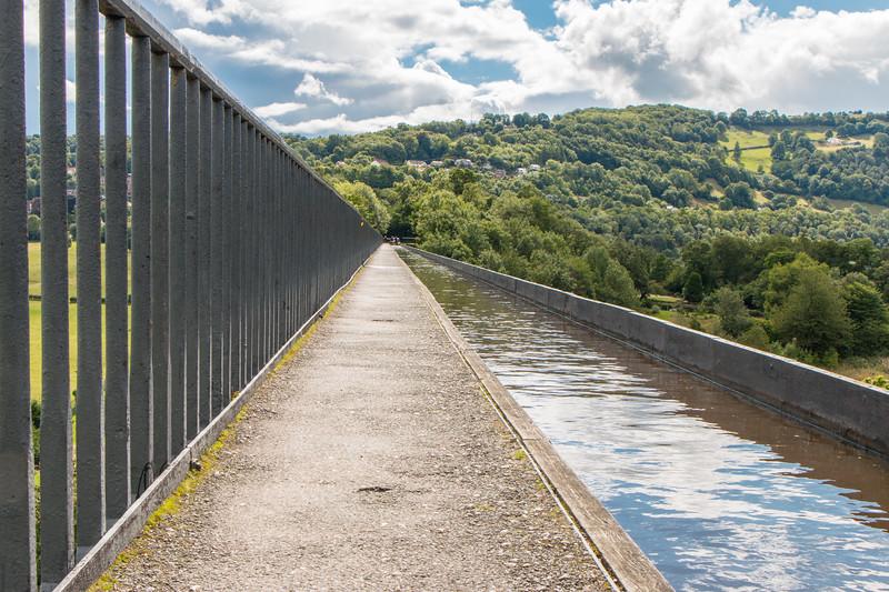 Crossing Pontcysyllte aqueduct, Wales