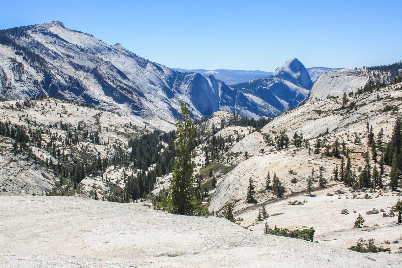 The other side of Half Dome