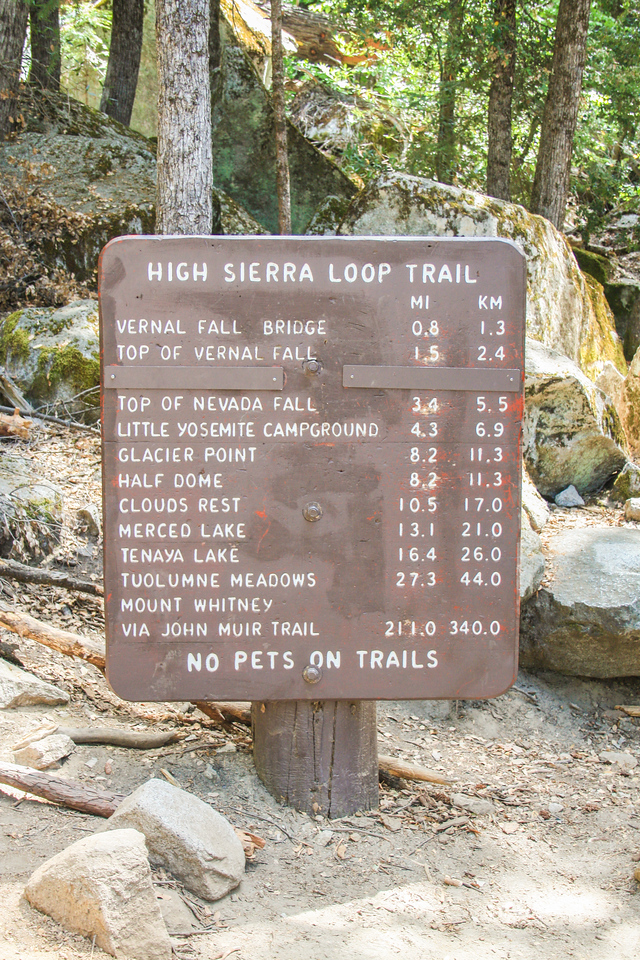 Yosemite trails