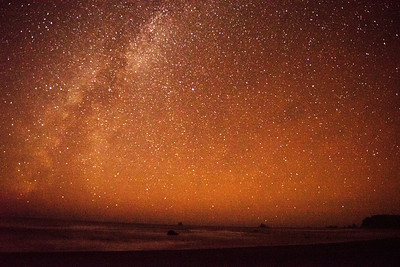 Stars over the Pacific Ocean