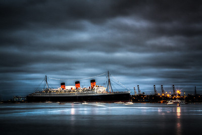 The Haunted Queen Mary Shot of the Queen Mary from across the bay. From my blog http://alikgriffin.com
