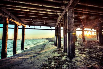 Under the Santa Barbara Pier