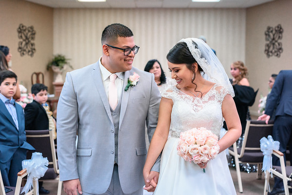 The best feeling in the world. Walking down the aisle as Mr and Mrs for the first time... Congratulations Osmon & Stefany!