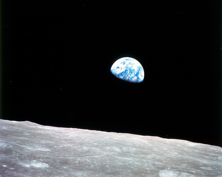 "EARTHRISE - 2 January 2014<br /> <br /> Earthrise (taken by Astronaut Bill Anders) - Apollo 8, 24 December 1968<br /> __________<br /> <br /> Those of us in the aviation business mostly think about aviation in a practical sense. Despite how it might appear on this website, I am not thinking philosophy all the time. Most of my day-to-day thinking is related to just getting through - important things like when to wake-up, get in an exercise session, whether I put gas in the car… you know the drill. As normal as that all is, I am attuned to things that might inspire me to think. That's how I get my articles. But, sometimes something comes a long that requires no thinking. It is just deeply thought-provoking, without any effort. This picture is all about that. <br /> <br /> Forty five years ago on Christmas Eve, Apollo 8 circled the moon. While the mission wasn't nearly as famous as the Neil Armstrong, ""One small step for man…,"" mission less than a year later, it was notable for many reasons, not the least of which was orbiting the closest celestial body to Earth. <br />  <br /> Orbiting the moon was a clearly defined technical achievement that everyone involved with the program expected. After all, the stated objective of the manned space program was to put a man on the moon before the end of the sixties. You clearly have to orbit the moon if you're going to land there. Apollo 8's mission was a technical increment in the long strategy that would eventually lead to the Apollo 11 landing and Neil Armstrong taking that step. <br /> <br /> What probably wasn't so wildly anticipated from the Apollo 8 mission was a world change in perspective in a single moment: the rise of Earth while the Apollo 8 orbiter made its fourth orbit. The crew was doing what they were supposed to be doing when Earth rose from the far side of the moon. Jim Lovell was shooting black and white. William Anders was shooting color, using a highly modified Hasselblad camera. They both captured the scene, which is well documented in audio. NASA even recreated the events with animated external views."