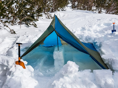 Winter camping in style