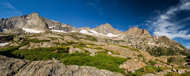 Above Black Lake in RMNP<br /> Spearhead and McHenry's<br /> 4 Photos
