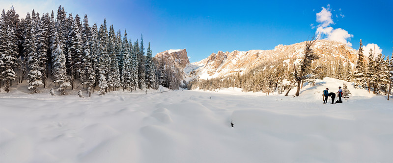 Dream Lake a stich of 5 photos<br /> Rocky Mountain National Park