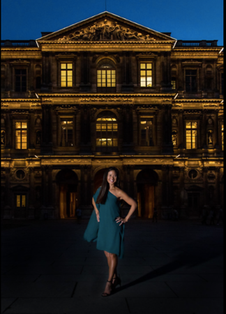 Blue Hour Photoshoot at the Louvre, Paris.