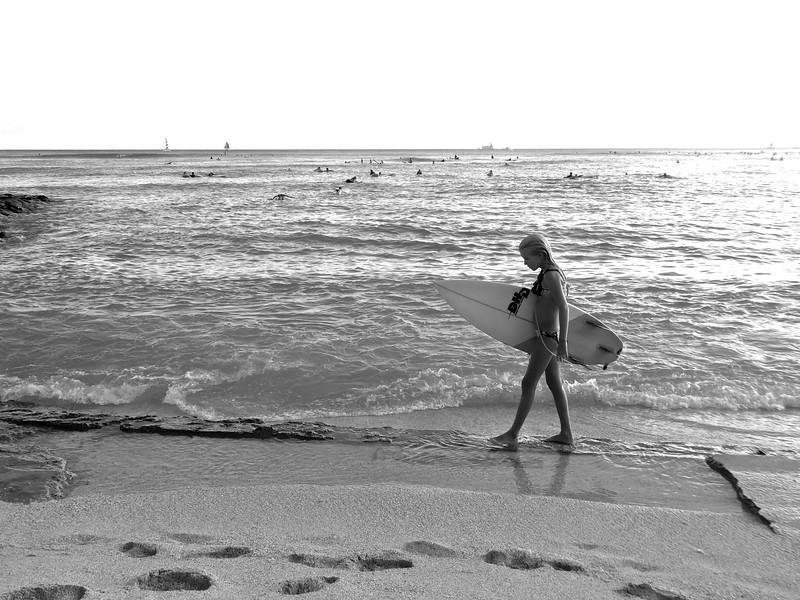 Surfer Girl, Waikiki Beach - Honolulu, Hawaii