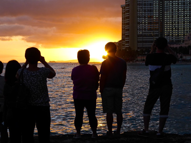 Appreciating Sunsets - Honolulu, Hawaii