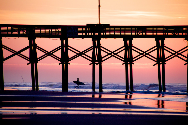 The sunrise surfer