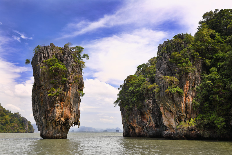 "Khao Phing Kan a.k.a. ""James Bond Island"", used in the 007 film ""The Man with the Golden Gun"""