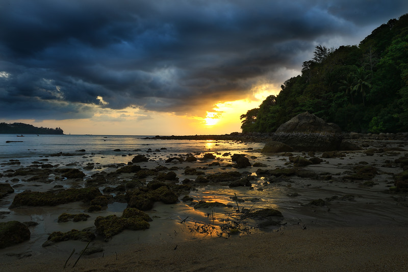 we were privy to this sunset just minutes after our arrival to the hotel on Kamala beach
