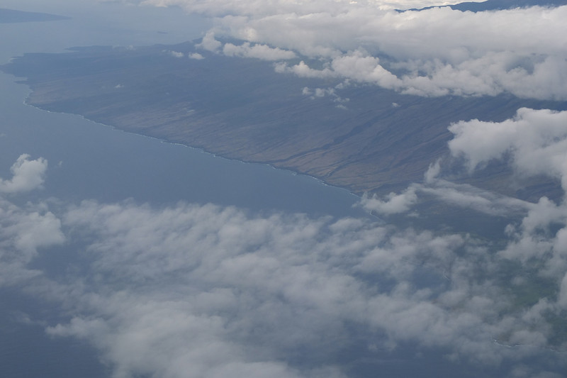 Taken out of the nasty Boeing jet window on the way into Kona