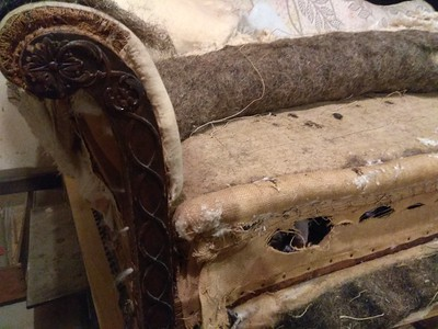 antique sofa rebuild