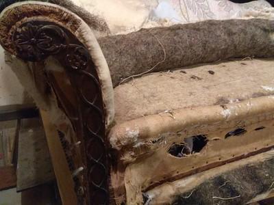 antique sofa rebuild