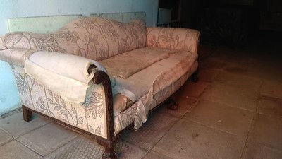 Sofa comes into the barn from Norther England