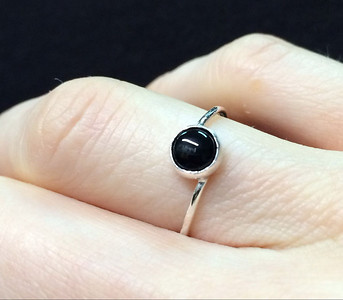 Black onyx in sterling silver