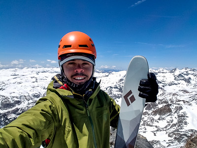 Selfie on the summit of Mt Ritter