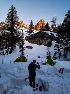 Sunrise from Camp above Ediza Lake
