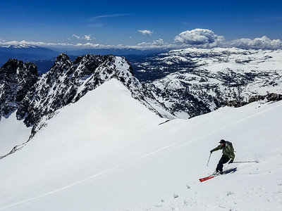 Miles skiing down Ritter