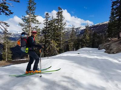Danny Dresher backcountry skiing the Eastern Sierra