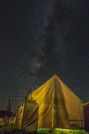 Night sky from Staff tent city. Where I live for the summer. Photo by Alexander Bohlen