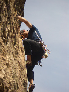 in a 5.11 in Puoux, Colorado
