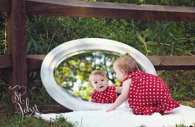 Mirror Mirror... I had to go into my archives for this photo. Why is she growing so fast?