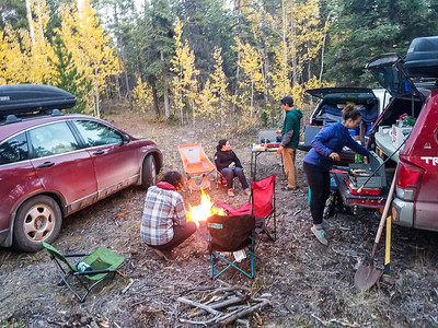 making camp in the wilderness of British Columbia