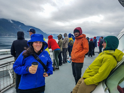 aboard the ferry from Haines to Skagway