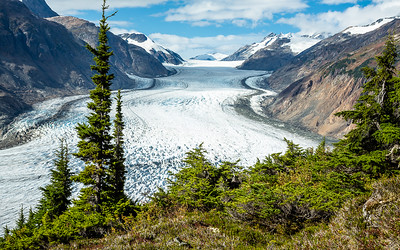 Overlooking the Salmon Glacier in British Columbia, Canada.