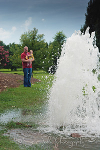 TRANSPARENT - A water main broke in our yard this week. Good Times!