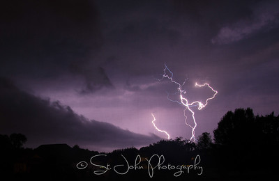 SKY - Lightening. This is my first time shooting lightening... I can't wait to try again.