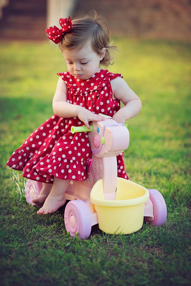 Trick! Madeline can ride side saddle. You should be impressed.