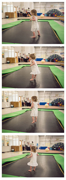 Jump... This is Madeline's version of Heaven... Gymnastics. We go to Gymnastics (eNeRGy Kidz and North Raleigh Gymnastics) every week and we have a blast. I wish adult gyms were like this... Maybe I would go to the Gym then. I have fun chasing her around the gymnasium, but I would like to Play too.