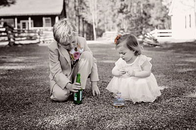 Favorite Sport... The favorite sport for this wedding was fitting rocks into a Mountain Dew bottle & apple juice bottle.