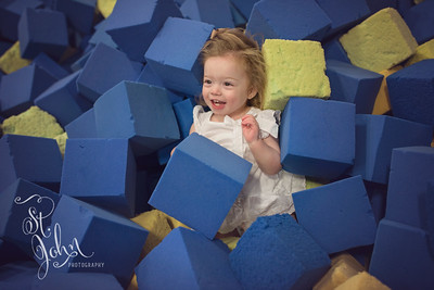 Shapes... Here are some cubes from the foam pit at eNeRGy Kidz & North Raleigh Gymnastics