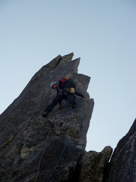 just below the crux, 6c