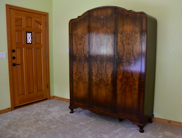The first piece of furniture we bought, an antique Italian wardrobe.