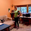 So here it is! After almost six months in our new home, I finally created an online tour of our house in Bainbridge Island, Wash.<br /> <br /> And because this is a sewing blog, let's start this tour in my new sewing space. It's the first room to get a new paint color (because priorities.) And I have not spent near enough time in it yet. With unpacking, furniture shopping, painting, finding a job, and so on, I've made only three garments in six months.<br /> <br /> And I'm wearing one of them in these photos. Hurray! I finally got the black cigarette pants I wanted after making my red wool blazer last year!
