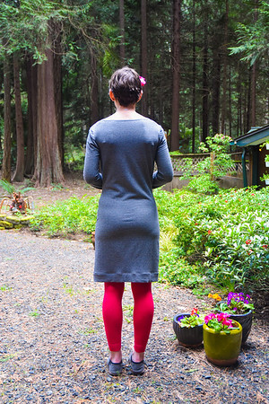 It's probably the most weather-appropriate article of clothing I've created since moving here. In fact, I bought this French terry from Modern Domestic in Portland, Ore., on our second PNW trip in 2015.