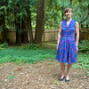 I finally finished a summer dress.<br /> <br /> I started this dress months ago. I worked on it a few minutes at a time all summer and finished it just in time for the weather to start cooling off.
