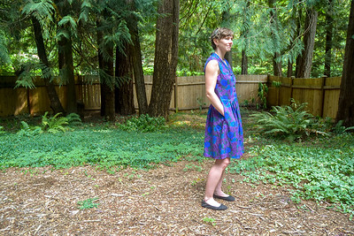 This is the first pattern I've used by Butterick, but I figured the sizing was the same as the other big pattern companies. So I cut size 10 based on Simplicity patterns I've made.