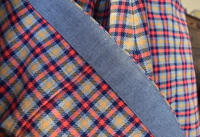 Hem facing is wool gabardine from Mikey's skinny Jeds.