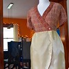 Victory's instructions give a really cool way of attaching the lining. It gets stitched to the hem before sewing the skirt to the bodice.<br /> <br /> Instructions also call for stitching the skirt pleats after attaching the lining. Instead, I sewed them separately and pressed them in opposite directions.