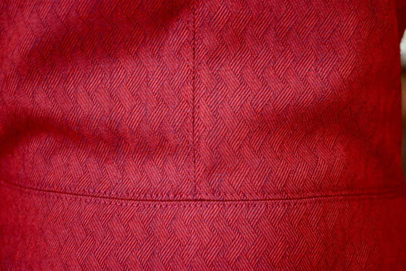 I topstitched the hell out of this jacket. I pressed all seams open, so I topstitched on both sides of each seam.
