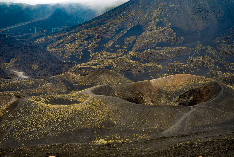 Etna, a vulcano of many craters